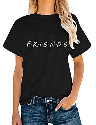 AEURPLT Womens Friends TV Show T Shirts Summer Short Sleeve Graphic Tees Tops