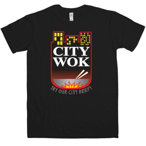 Mens Inspired By South Park T Shirt - City Wok - Black - Large]()