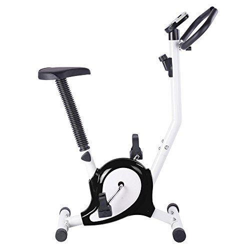 AW Black Exercise Bike Fintess Cycling Machine w/ LCD Display Personal Gym Cardio Aerobic Equipment
