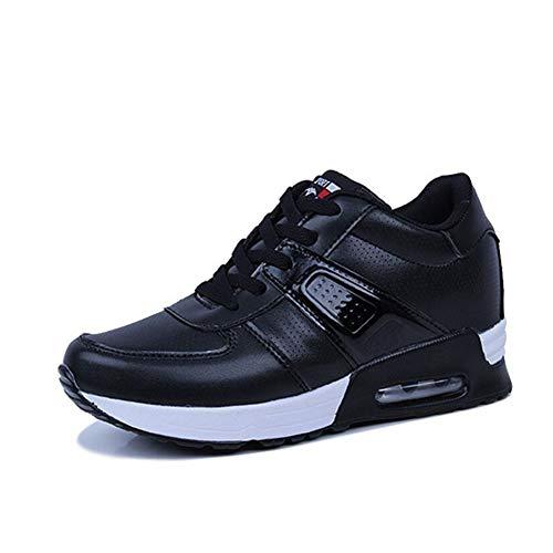 Estudiantes Zapatos Al Amortiguadores Mujeres Para Yaxuan Y Ligeras Zapatillas De Negro Deportivos Marea Correr Invisible Libre Deporte Aire Con Las Mujer Aumento Absorbentes zxzSpqfw