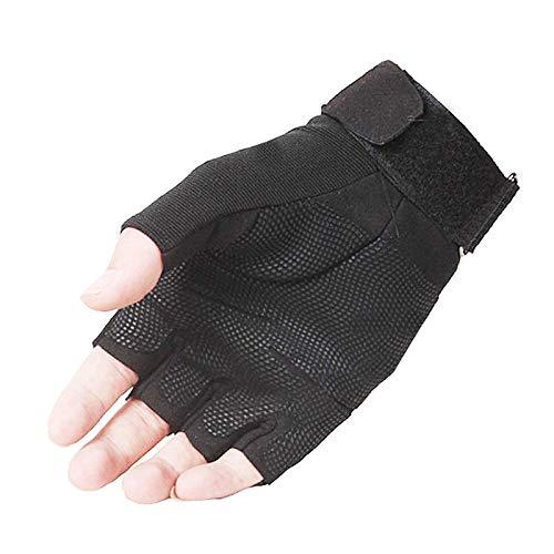 Aokarry Gloves, Half finger nylon Winter Cycling Gloves for Mens black orange X-Large