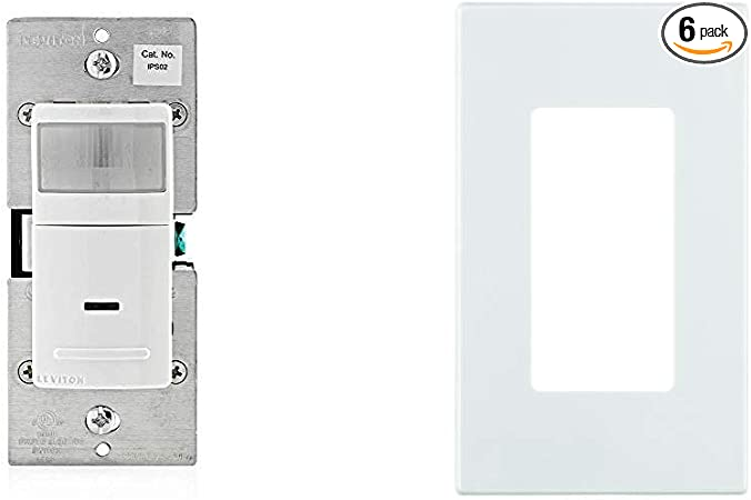 Auto-On Leviton  IPS02-1LW Decora Motion Sensor In-Wall Switch 2.5A 3 PACK