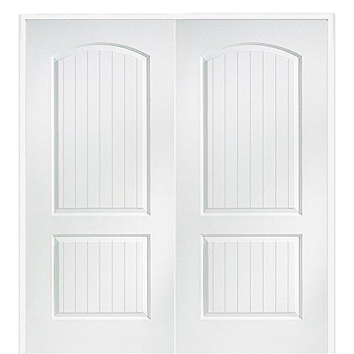 National Door Company Z009493BA Solid Core Molded 2-Panel Planked, Prehung Interior Double Door, 72'' x 80'' by National Door Company
