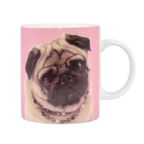 - Pug In Necklace Pink Mug