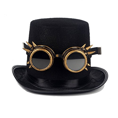 FUT ABS Spiked Steampunk Goggles Glasses Cosplay Costume Props (Brass) by FUT (Image #4)