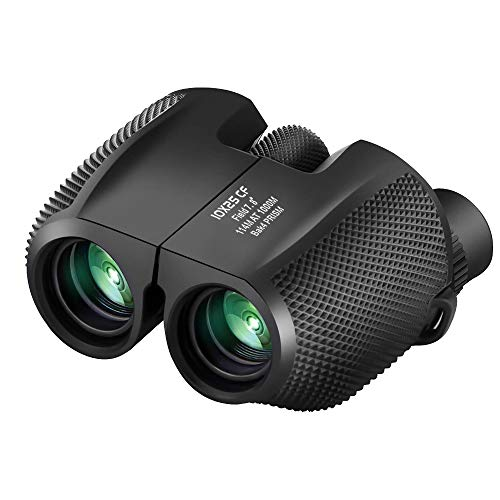 Binoculars Compact Lightweight 10x25 - Waterproof Antiskid Binocular Weak Light Night Vision Folding High Powered Binoculars for Bird Watching, Travel, Hunting, Outdoor Sports Games and Concert Theate