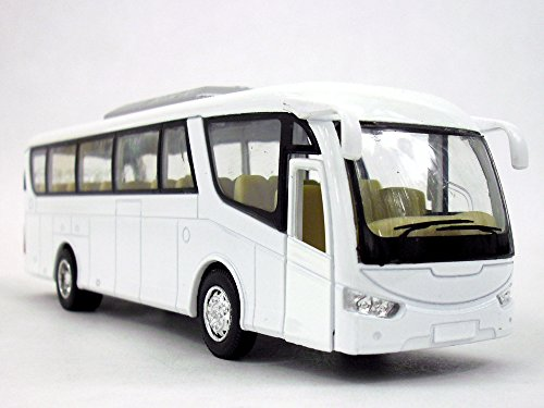 Coach Bus Diecast Metal Scale Model - WHITE/BLANK (Coach Bus)