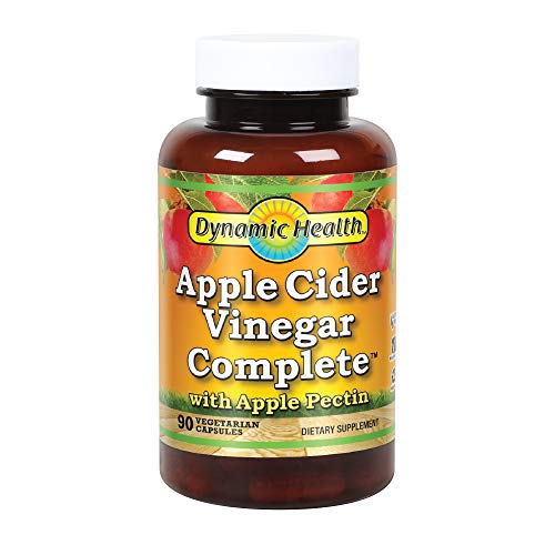 Dynamic Health Apple Cider Vinegar Complete with Apple Pectin, 90 Count (Best Vinegar For Health)