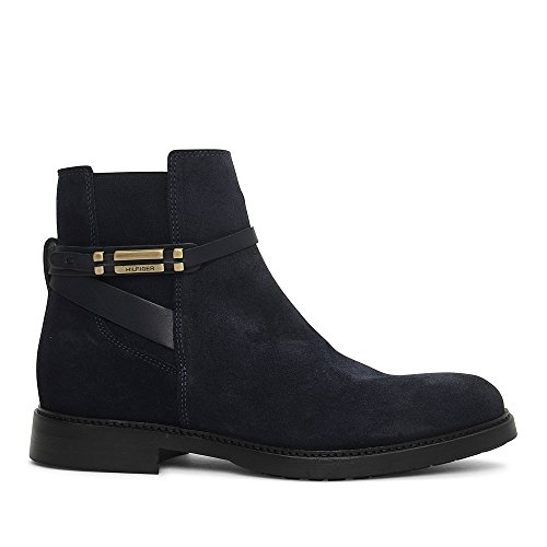 Tommy Classic Navy Boot Suede Ankle In Hilfiger 77FrRa0