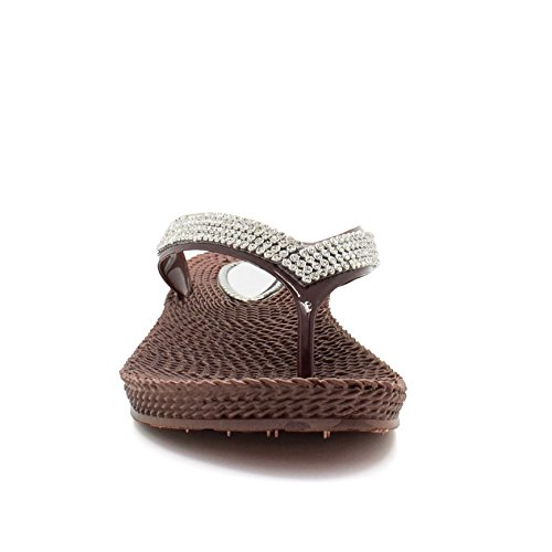 Braun hinten London offen Footwear Damen FqxAHCI