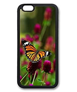 Black Case for iphone 6 Plus,Fashion Cool Art Butterfly Custom Protective Soft TPU Back Case Cover for iphone 6 Plus