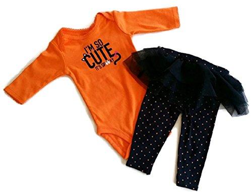 Carter's Baby Girls I'm So Cute It's Spooky Halloween Bodysuit & Tutu Pant Set 3 month (3 months)