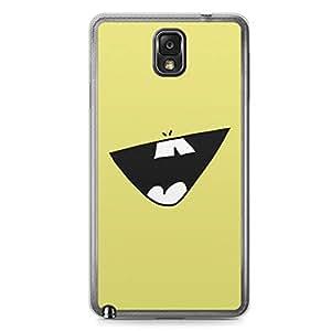 Smiley Samsung Note 3 Transparent Edge Case - Design 1