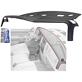 Graphite Grey Molded Plastic Dash Pad Cover Overlay Fits 98-02 Dodge Ram Trucks