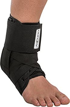 Dual Compression Straps for Strains DonJoy Advantage DA161AB01-BLK-S 7.5 to 9.5 M Stabilizing Ankle Brace Adjustable to fit Small to Medium Sprains Lightweight Low Profile Arthritis