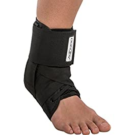 DonJoy Stabilizing Pro Ankle Support Brace, Black, Medium