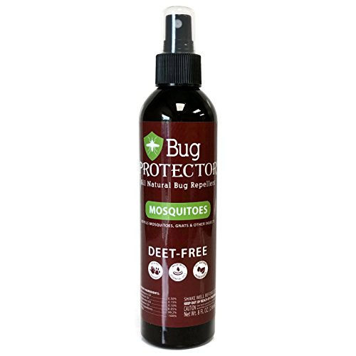 Natural Dog Repellent (Bug Protector All Natural Mosquito Gnat and Insect Repellent Spray Deet Free (8 oz))
