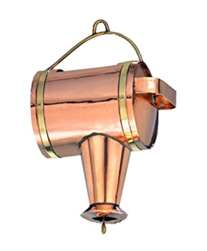 """CC Home 11"""" Handcrafted Polished Copper Watering Can Rain..."""