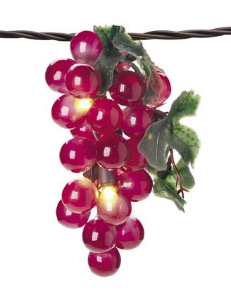 lighted grapes - 1