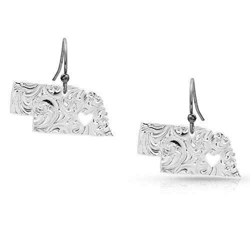 - I Heart Nebraska State Charm Earrings