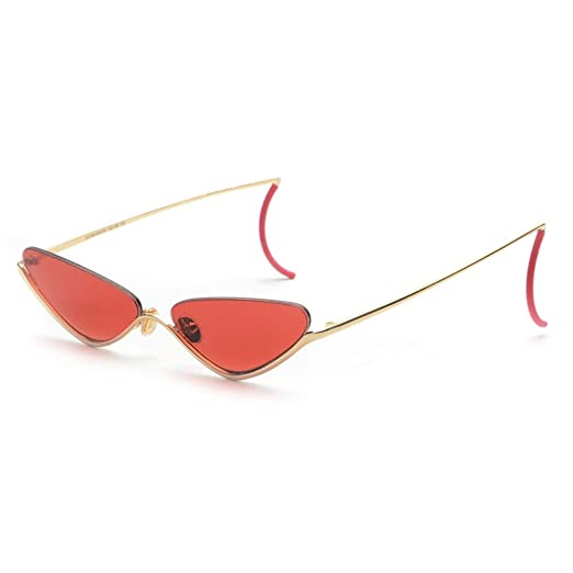bca0bf9e0e1cb Cat Eye Sunglasses Women Semi-rimless Retro Sun Glasses Female Street  Fashion (gold with
