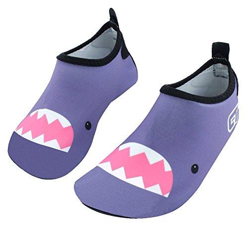 Water Shoes Pool Barefoot Eercise Kid Little Toddler Aqua Kid Beach Shoes SENFI Mutifunctional Dry Grey Big Quick Boys Girls PAqHwxEt