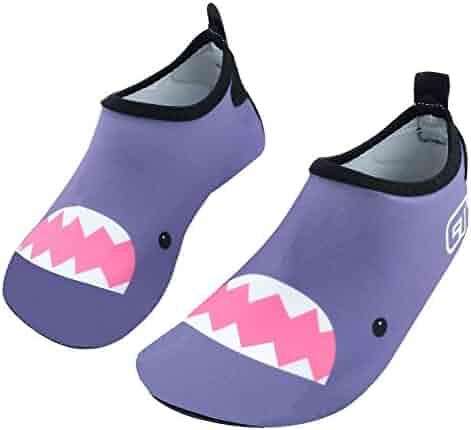 e0156101d3e8 SENFI Boys Girls Water Shoes Mutifunctional Barefoot Quick Dry Aqua Shoes  for Beach Pool Eercise (