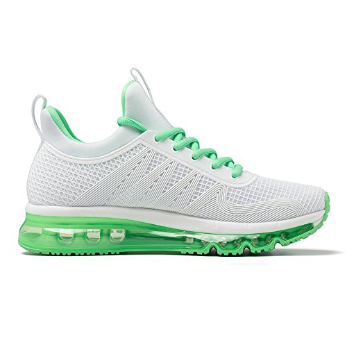 Onemix Air Cushion Sports Running Running Sneakers Walking Shoes Per Uomo E Donna Lightgreen