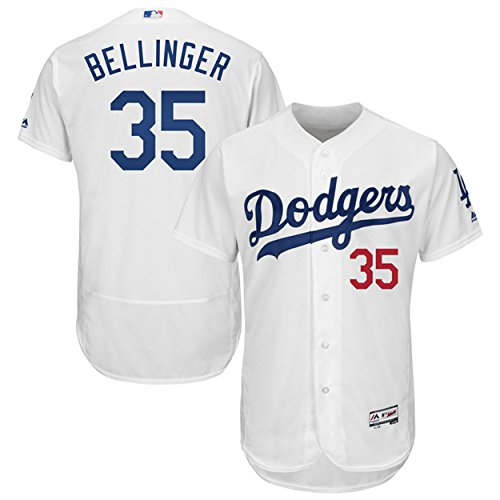 Majestic Athletic Men's Los Angeles Dodgers NO.35 Cody Bellinger White Baseball Jersey (Size 48)