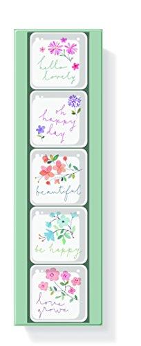 FRINGE STUDIO Twiggy Floral Square Magnets, Set of 5