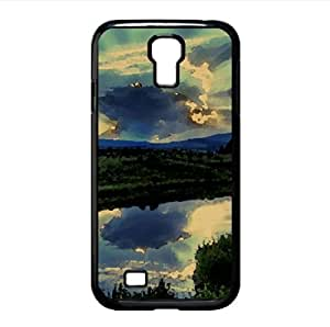 The Sun Hides Behind A Cloud Watercolor style Cover Samsung Galaxy S4 I9500 Case (Landscape Watercolor style Cover Samsung Galaxy S4 I9500 Case)
