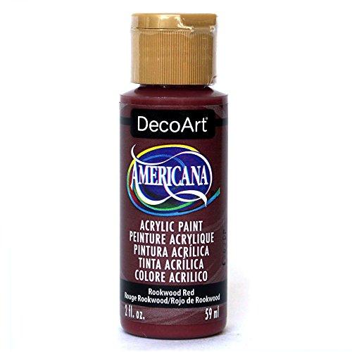 (DecoArt Americana Acrylic Paint, 2-Ounce, Rookwood Red)