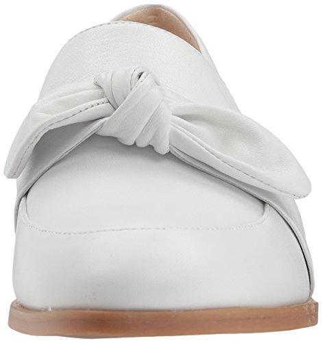 Nine West Damen Janilly Leder Loafer Weißes Leder