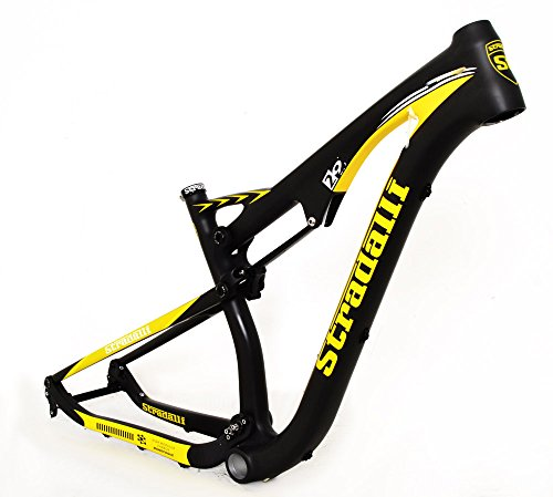 Stradalli 29er Black Yellow Full Carbon Dual Suspension Cross Country XC Trail Mountain Bike Frame Frameset
