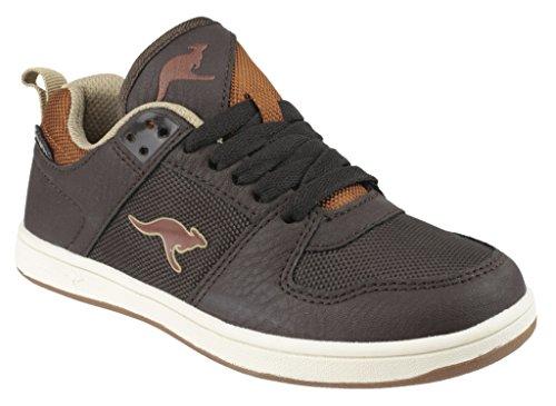 Kangaroos - Zapatillas para niño Dark Brown/Cognac
