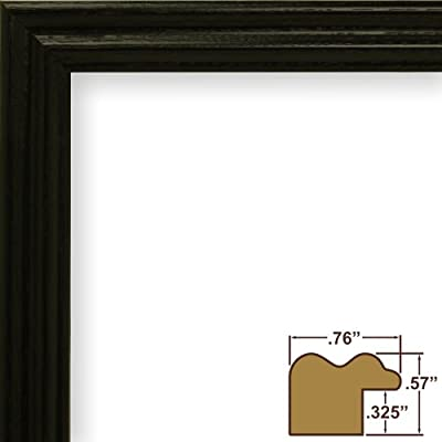 Craig Frames 200ASHBK 0.75-Inch Wide Picture/Poster Frame with Wood Grain Finish