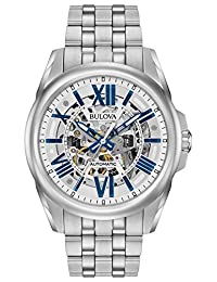 Bulova Men's 96A187 Analog Automatic Mechanical Stainless Steel Dress Watch