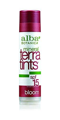 Alba Botanica Terratints, bálsamo para los labios, 0,15 onzas de la floración