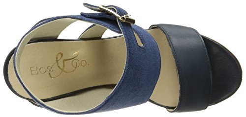 Bos. & Co. Womens Irene Dress Sandal Blue Ocean Suede Leather 0RGzlz3yI