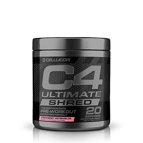 Cellucor C4 Ultimate Shred, Pre Workout Powder + Fat Burner, Fat Burners for Men & Women, Strawberry Watermelon, 20 Servings
