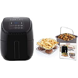 NuWave Brio Digital Air Fryer (3 qt) with Gourmet Accessory Kit