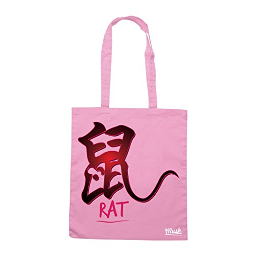 Borsa SEGNI ZODIACALI CINESI TOPO - Rosa - MUSH by Mush Dress Your Style