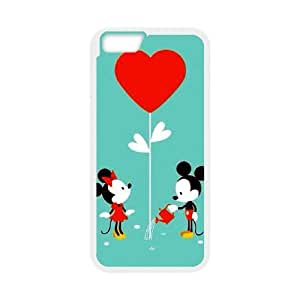 Personalized Durable Cases Qkbvi iPhone 6 4.7 Inch White Phone Case Lovely Mickey Mouse Cute Protection Cover