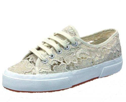 Superga Women's 2750 Lace Fashion Sneaker,Ivory,41.5 EU/10 M US