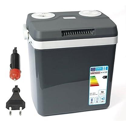 Dino KRAFTPAKET 131001 Kühlbox 12V 230V (WÄRMT & KÜHLT) HÖHE: 44cm GRÖSSE: 32-Liter (28L netto) Elektrische Kühlbox für Auto Boot Camping, A++ mit ECO-Modus 1