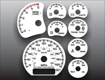 amazon com 2000 2002 gmc sierra 2500hd duramax diesel white face gauges automotive 2000 2002 gmc sierra 2500hd duramax diesel white face gauges