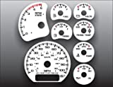 2000-2002 GMC Sierra 2500HD Duramax Diesel White Face Gauges
