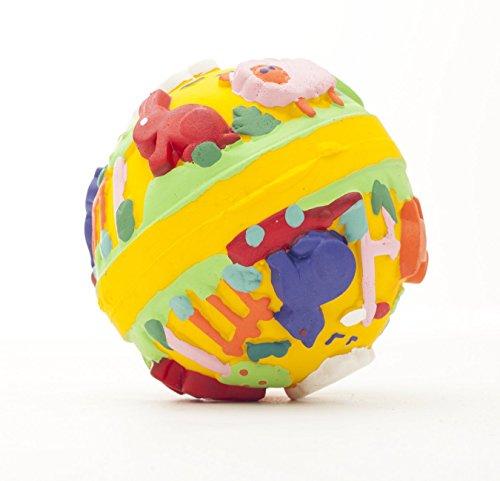 Naturkautschuk Babyspeilzeug Kleinkindspielzeug Beissring Badewannespielzeug LILI der Ball