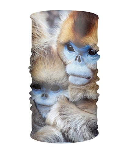 unction Changed Headwear Animal Golden Snub Nosed Monkeys Headscarf Bandanas ()
