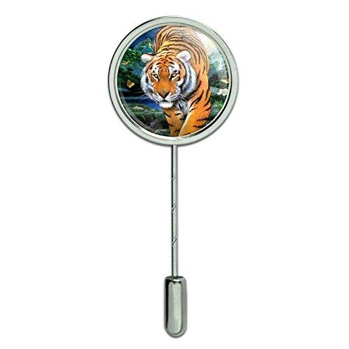 (GRAPHICS & MORE Tiger Stalking at Sunset Butterflies Stick Pin Stickpin Hat Brooch)
